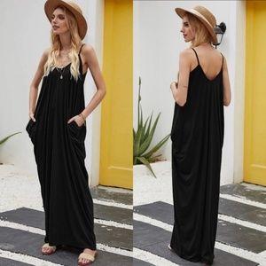 Black Cocoon Cami Maxi Dress